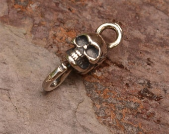 Two Skull Links in Sterling Silver -220