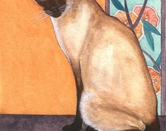 Siamese cat print from my original painting