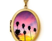 California Nights - Los Angeles City Photography - Photo Locket Necklace