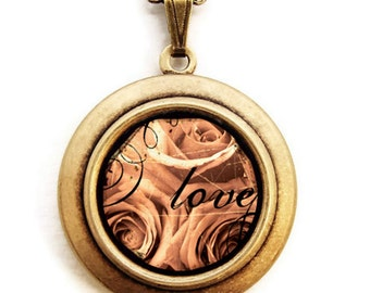 Love- Photo Locket Necklace- Collaboration with Julie Chen of lifeverse