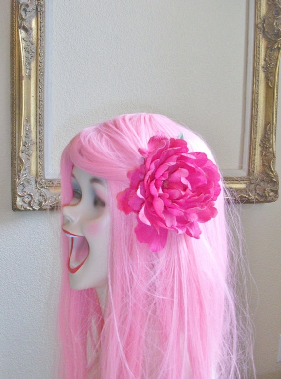 Savvy - Shabby Hot Pink Clip - Interchangeable with Headbands