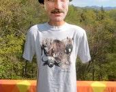 vintage 80s tee shirt ZIMBABWE big five animals zebra elephant lion african safari t-shirt XL Large