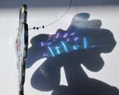 Stained Glass Crystal Flower Mobile Suncatcher - Blue Fish Crystal Teaser