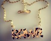 Animal Print PATTERN custom name necklace