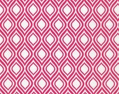 Sale Fabric, Pink fabric, 6 dollars a yard, Girl fabric, Metro Living fabric by Robert Kaufman- Mod Stencil Fuchsia- Choose The Cut