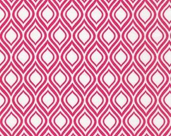 Sale Fabric, Pink fabric, 6 dollars a yard, Girl fabric, Metro Living fabric by Robert Kaufman- Mod Stencil Fuchsia- Choose The Cut