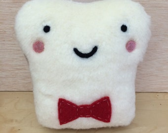 Plush Friend- Dr. Who Toast-of-the-Town - Stuffed Needle Felted Friend by Val's Art Studio, Stuffed Needle Felted Cute Pillow, Teen gift
