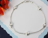 Sterling Silver Anklet, Silver Anklet, Beach, Vacation, Beach Wedding, Bridesmaid Anklet,