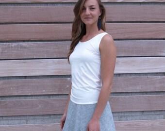 Organic Cotton Ticking & Hemp Wrap Skirt