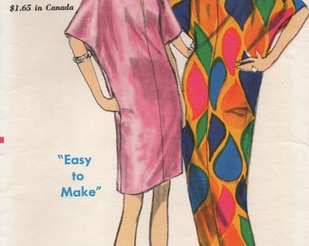 Vintage Vogue Caftan Sewing Patterns Mini Maxi Easy to Make Size Medium 14 16