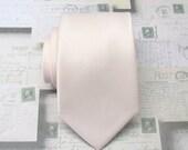 Mens Tie David's Bridal Petal Inspired Pale Pink Wedding Ties Pastel Angel Blush Pink Silk Necktie with Matching Pocket Squares Option