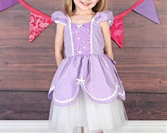 SOFIA dress  Sofia the First  dress PRINCESS dress TUTU dress lavender girls birthday party  or vacation costume