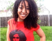 T-Shirt, Pelo Bueno, Good Hair, Natural Hair, Curly Hair, XX Large, 2X, Red