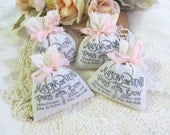 French Market Paris Lavender Sachet Favor - Set of Six - Choose Ribbon Color
