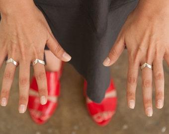 V Ring   Chevron Ring   Delicate Sterling Silver Ring   Stackable Ring   Simple Ring   Thin Silver Ring   Triangle Ring