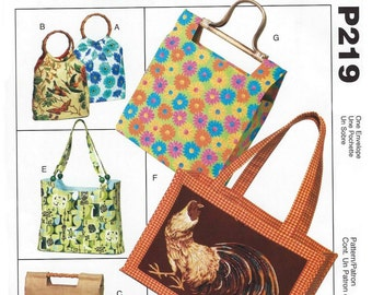 McCall's P219 Handbags and Totes - PATTERN