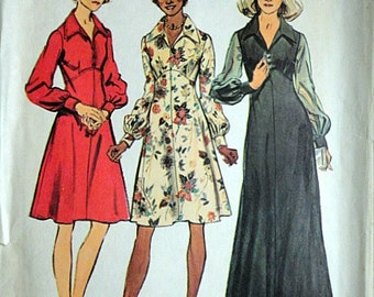 Simplicity 5968 Vintage 70's Look Slimmer Sewing Pattern, Misses' Dress, Size 10, 32 1/2 Bust, Uncut Factory Folded