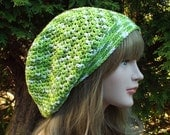 Lime Green Slouchy Beanie, Womens Crochet Hat, Oversized Slouch Beanie, Cotton Hat, Hipster Hat, Slouch Hat, Baggy Beanie Summer Slouchy Hat
