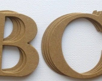 4 elegant cardstock or chipboard letters uppercase alphabets top seller customize words numbers