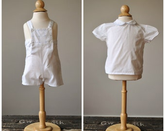 1980s French Sunsuit & Top Set~Size 3 Months
