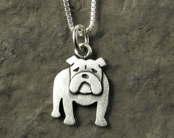 Tiny English Bulldog necklace / pendant