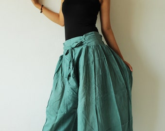 Wide Pants cotton mixed with silk in 2 sizes(244)