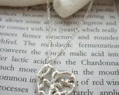 Silver heart filigree necklace, Heart silver pendant, Tree of life sterling silver necklace, Free gift wrap, Flower in heart, Valentine gift