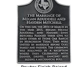 """Your Historical Marker 11"""" x 14"""" With Your Choice of State Seal Custom for you Made in the USA"""