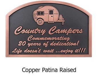 Happy Campers Sign 14x9 inches