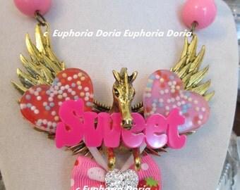 Pegasus Candy Kawaii Necklace