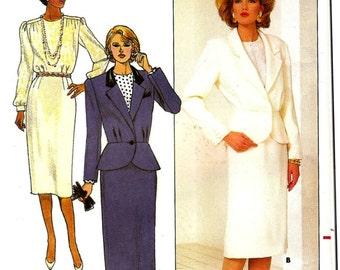 Misses Jacket, Skirt and Blouse Sewing Pattern - Butterick 3985 - UNCUT- Size 6 -8 -10 -Misses' / Misses' Petite