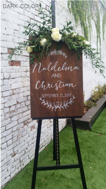Stained Plywood Custom Sign. Choose your size. Wood wedding Welcome. Ceremony Program. Menu. Wine List. Event Timeline. Seating Chart. Quote