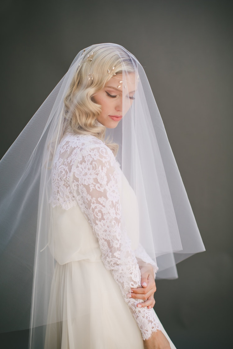 Accessory For Hair: Drop Wedding Veil Simple Tulle Veil Circle Veil By
