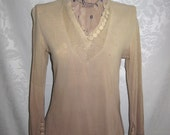 Ombre Dyed Gauze Cotton Tunic Size Small Vintage 70s