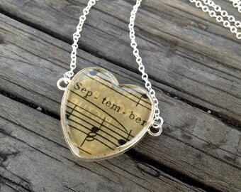 September's Love Pendant Necklace