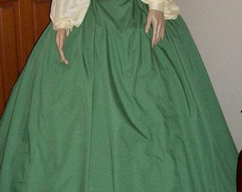 1860's Garibaldi Blouse, belt and skirt, Made to Order
