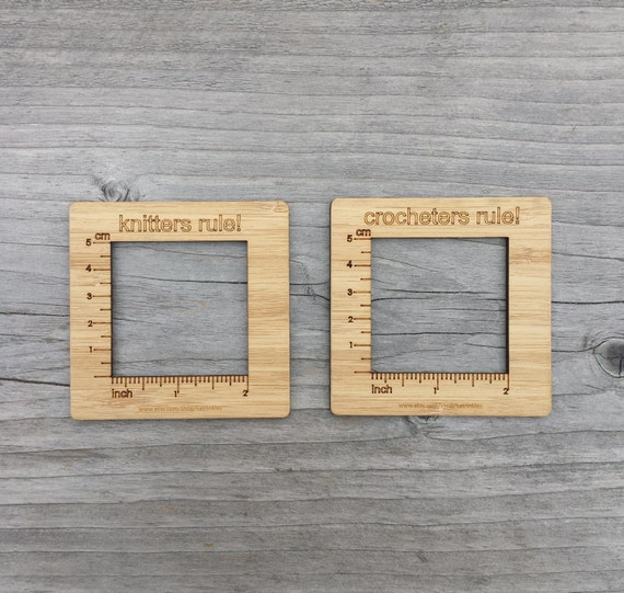 Knitting Gauge Tool : Gauge swatch measurement ruler square tool for by katrinkles