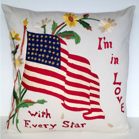 20 Square Throw Pillow Covers : 20 x 20 Americana Square Throw Pillow Cover
