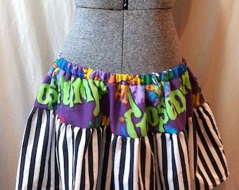 Goosebumps Plus Size Ruffle Mini Skirt