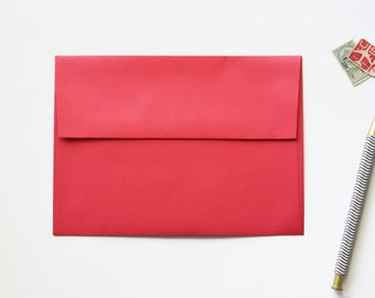 red envelope, reentry red astrobright envelope, cherry red envelope a7, 5x7