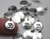 2 Or More TierraCast Silver Om Charms Pendants Antique Silver Plate Meditation Yoga Tierra Cast Lead Free Pewter Eastern Religion Aum Mantra
