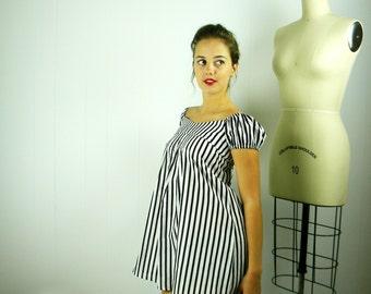 Striped Babydoll Tunic, Striped Tunic, Babydoll Tunic, Empire Waist Tunic, Womens Tunic, Striped Clothing