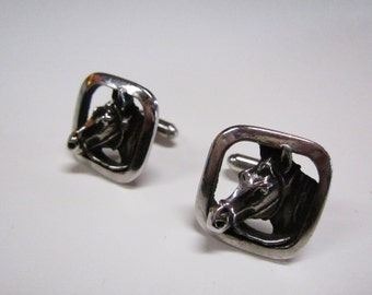 50s / 60s  Hickok horse cuff links made in USA