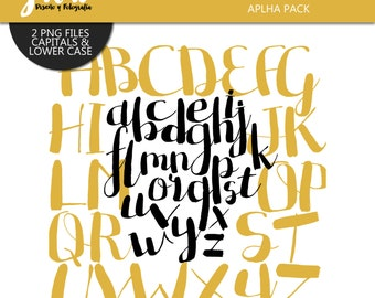 BIPLO Digital Alphabet, png files, instant download, Alphabet for scrapbook