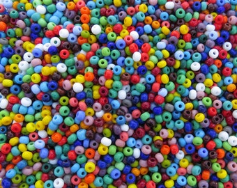 5/0 Opaque Color Mix Czech Glass Seed Beads 20 Grams (CS94)