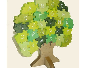 Award Winning  Alphabet Tree Wooden 3D Puzzle