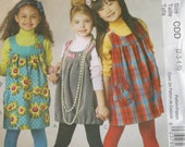Mccalls M6154 Girls Jumper Pattern Size 2,3,4,5,