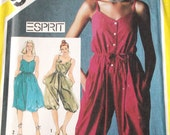 1980s Misses Jumper Pattern Simplicity 5590 Misses Size 8 Jumper and Pullover Sundress with Sash