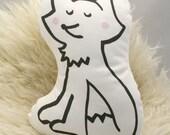 Fox Plush Pillow Cushion Softie - Organic Cotton Fabric - Soft Toy - Modern Woodland Baby Nursery Decor - Baby Safe Stuffed Animal
