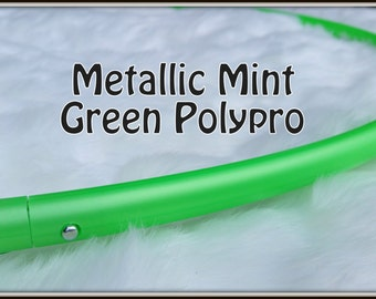 """METALLiC MiNT GREEN Polypro Available in 3/4"""" AND 5/8"""" Thin Poly!- Push-Button Collapsible. Free Sanding Option."""
